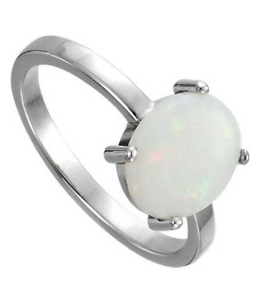 OPAL  original & lab certified 10 ratti silver Ring for astrological purpose by Ratan Bazaar\n