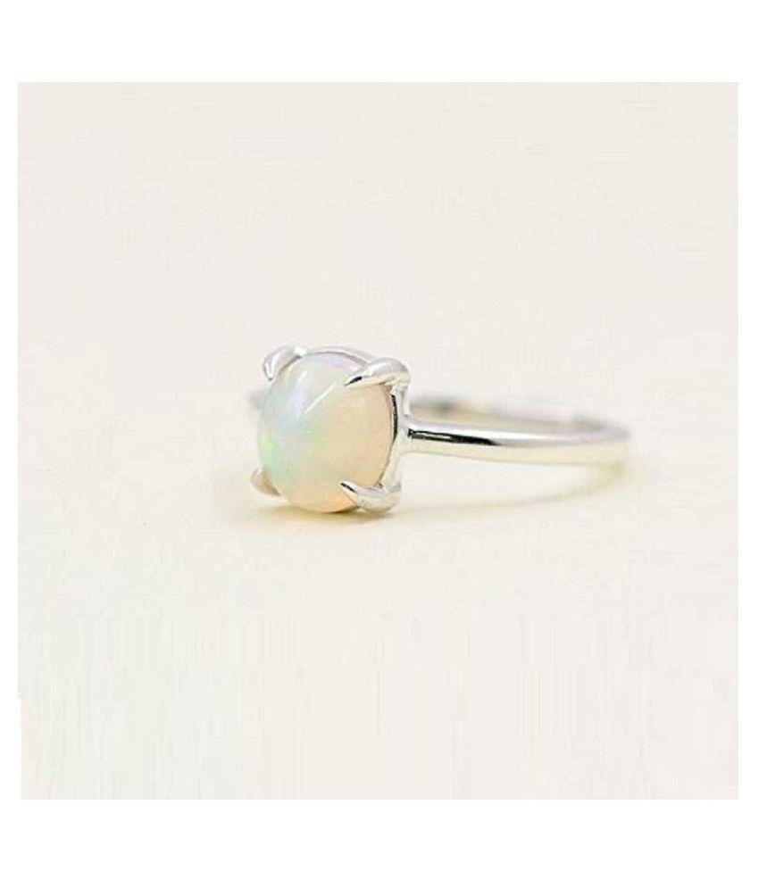 11 Carat Stone OPAL  Silver Ring for unisex by Ratan Bazaar\n