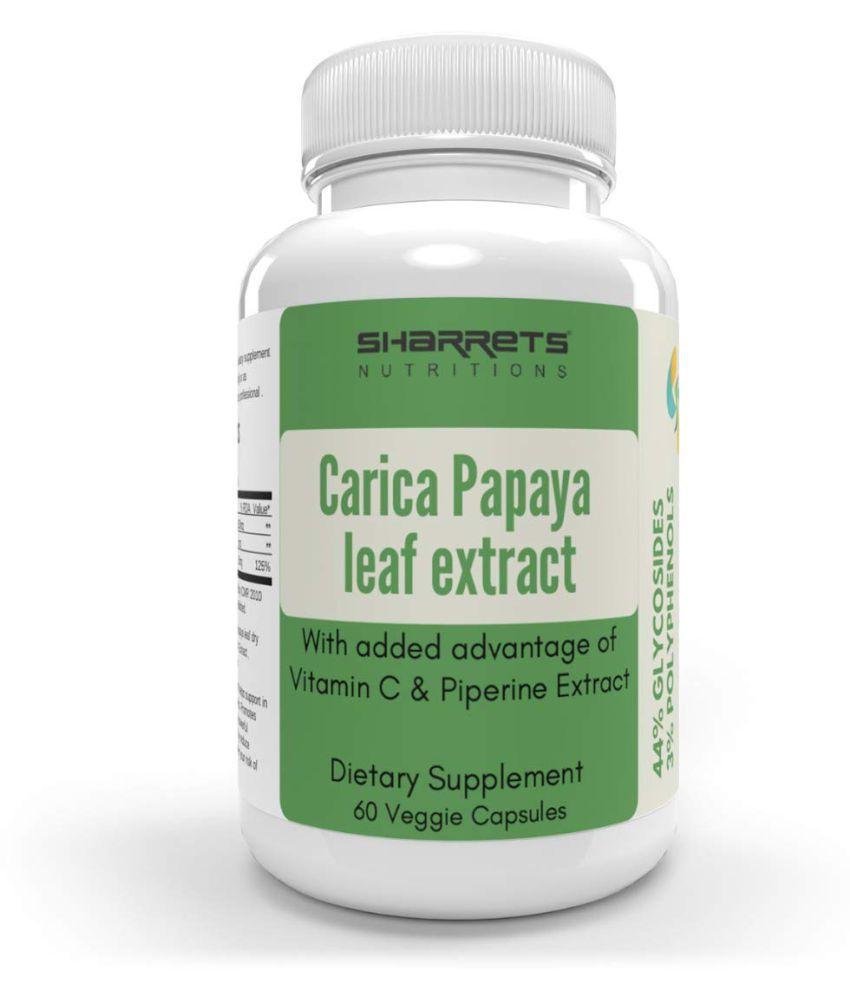 SHARRETS NUTRITIONS Carica Papaya Extract Capsules 60 no.s