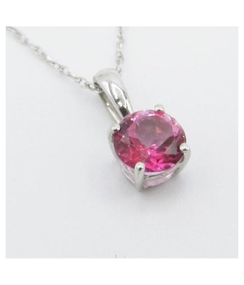 11.25 Carat  Pink Sapphire   Pendant with lab Report silver Pink Sapphire  Stone by Kundli Gems
