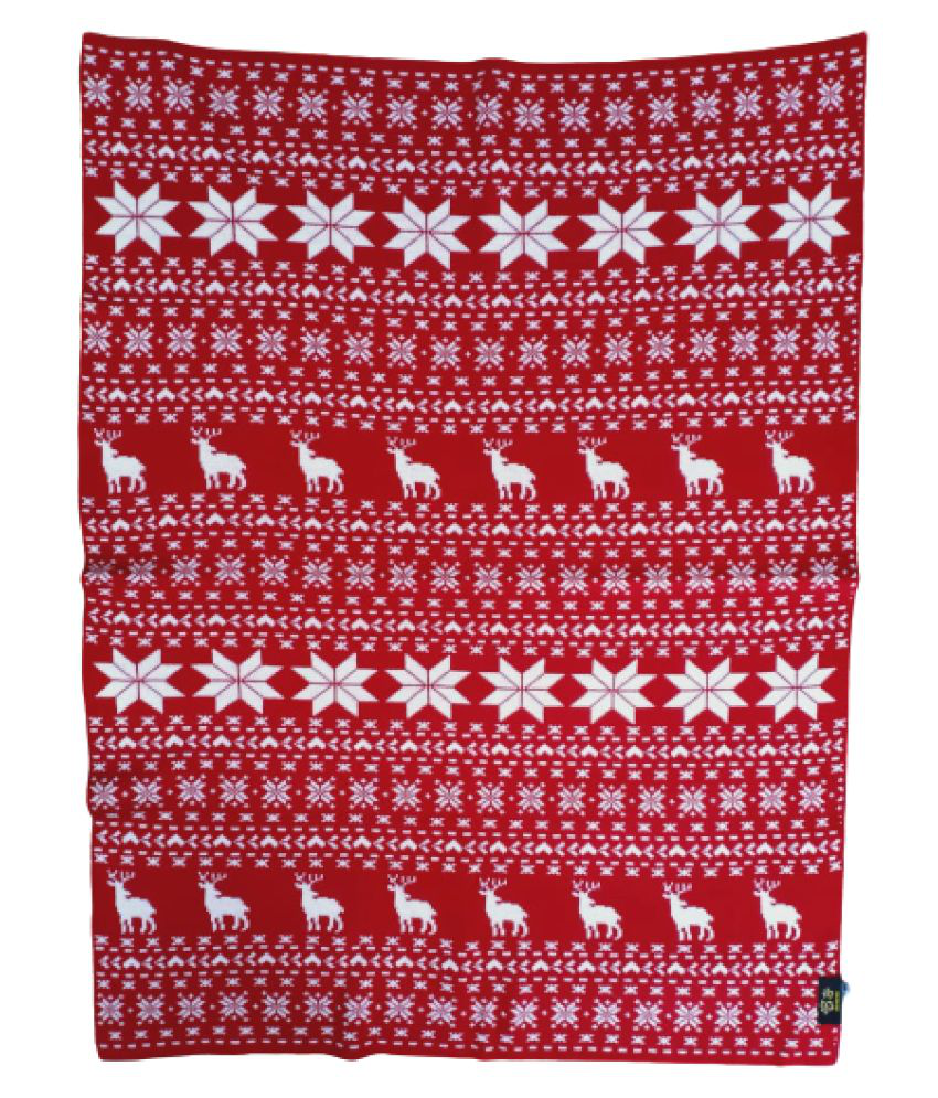 KOKIWOOWOO Premium Soft and Cozy Finely Knitted Pet Woolen Blanket Christmas Holiday Edition