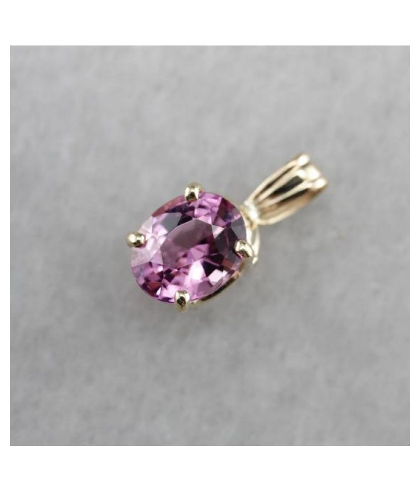 9.25 RATTI  Gold Plated  Pink Sapphire  Pendant  by  Ratan Bazaar\n