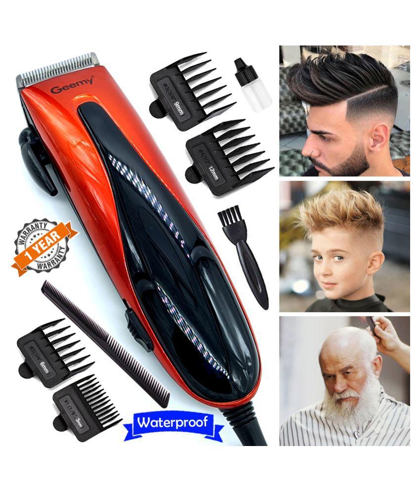 K Men's Waterproof Corded 9W Beard Mustache Hair Trimmer High Power Hair Clipper Combo