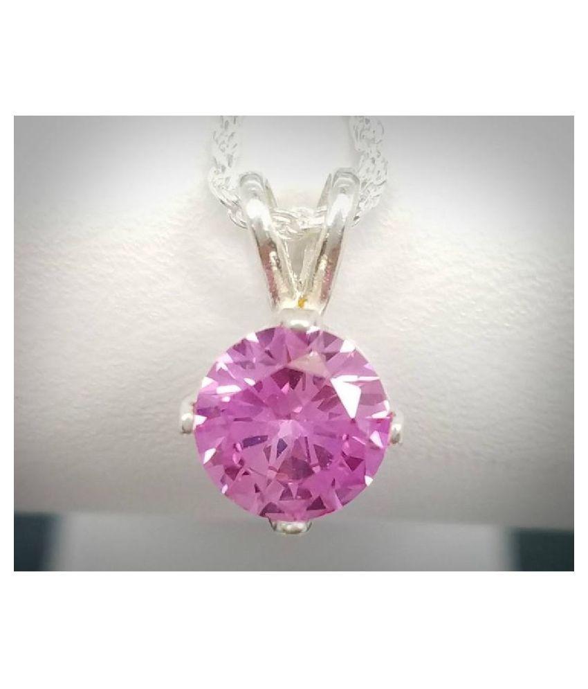 Pink Sapphire  Pendant 3.5 carat by Ratan Bazaar