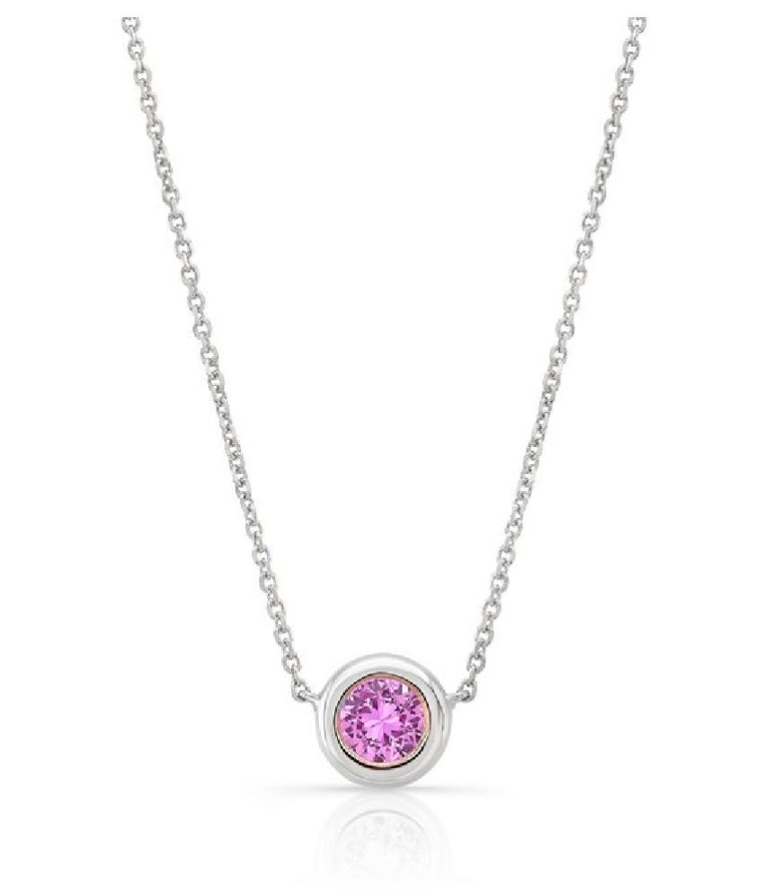 Pink Sapphire  Pendant 9 ratti  Stone Silver   for Men and Women by  Ratan Bazaar