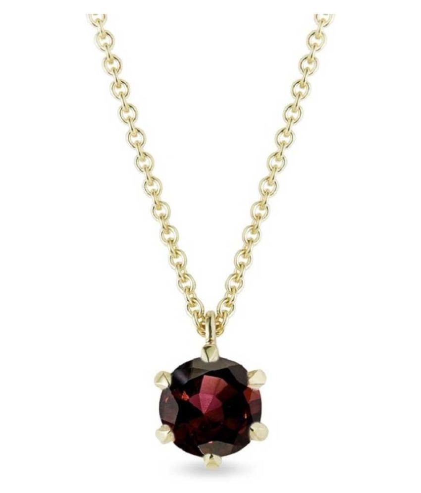 10 ratti natural Hessonite (Gomed)  Stone pure Gold Plated Pendant for unisex by Ratan Bazaar\n