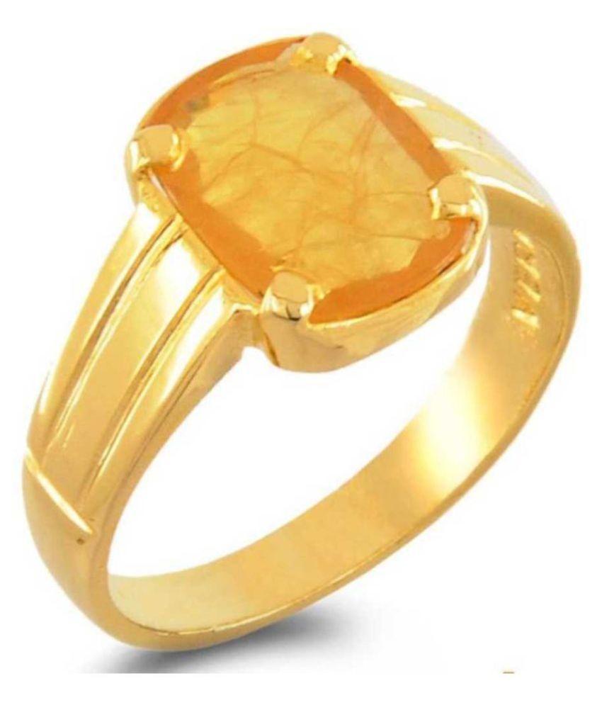 Yellow Sapphire 6.25 Ratti Pukhraj Stone