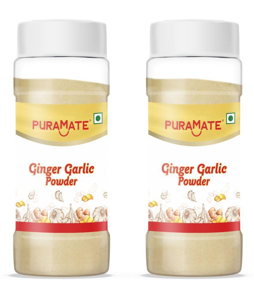 Puramate Seasoning - Ginger Garlic Powder, 45 g Pack of 4