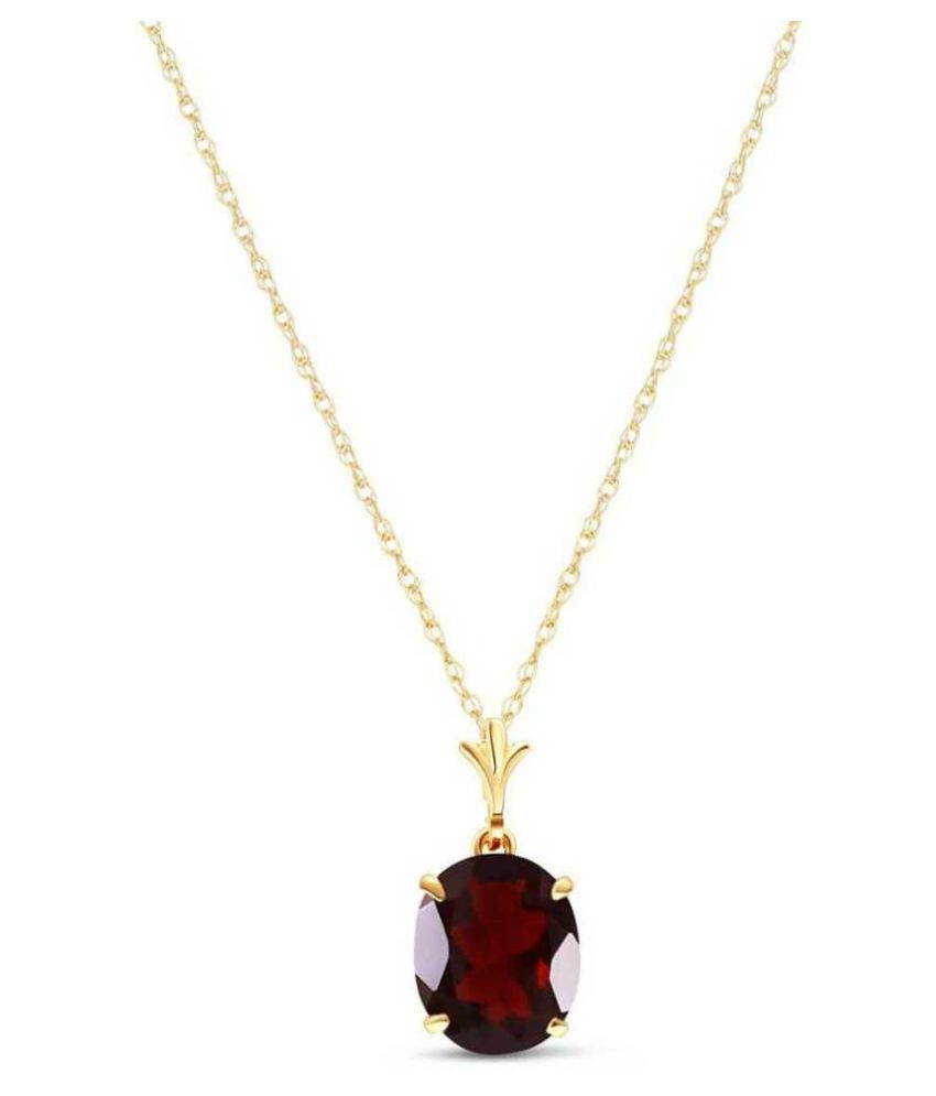 8.25 Carat  Hessonite (Gomed) Pendant with lab Report Gold Plated Hessonite (Gomed)  Stone by KUNDLI GEMS