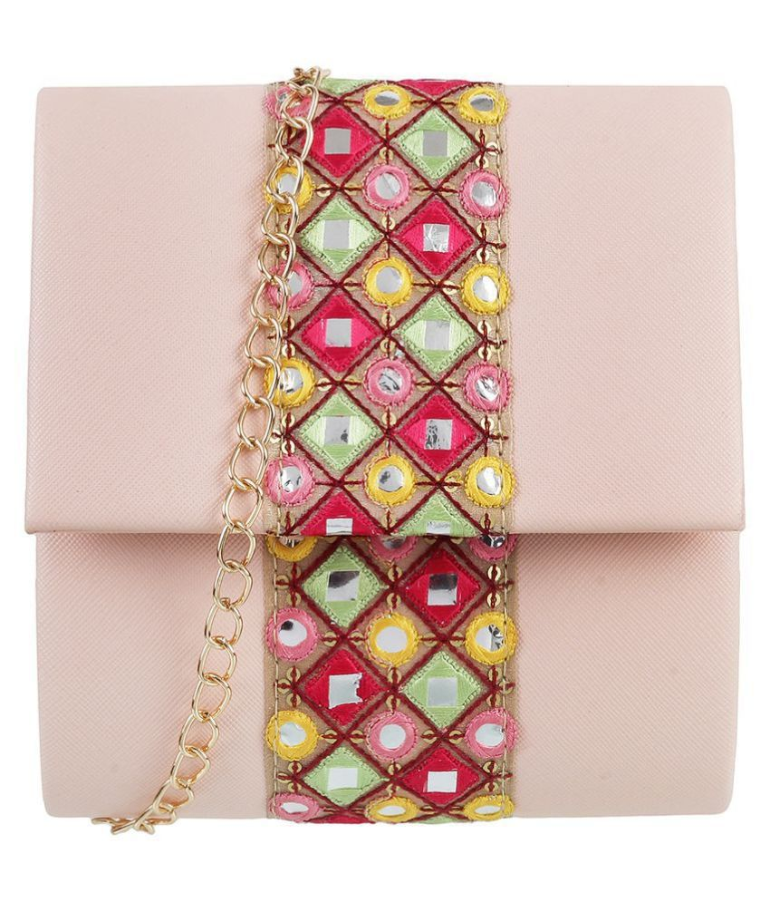 Metro Pink Faux Leather Sling Bag