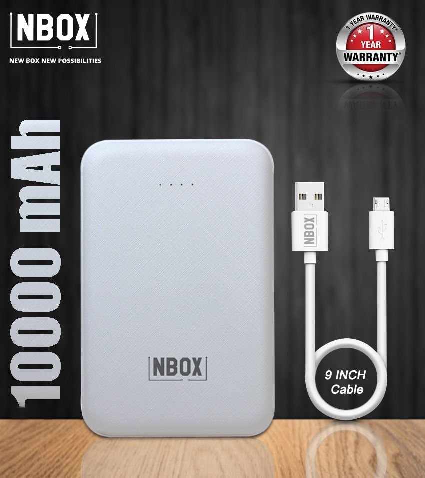 NBOX T68 10000 -mAh Li-Polymer Power Bank White