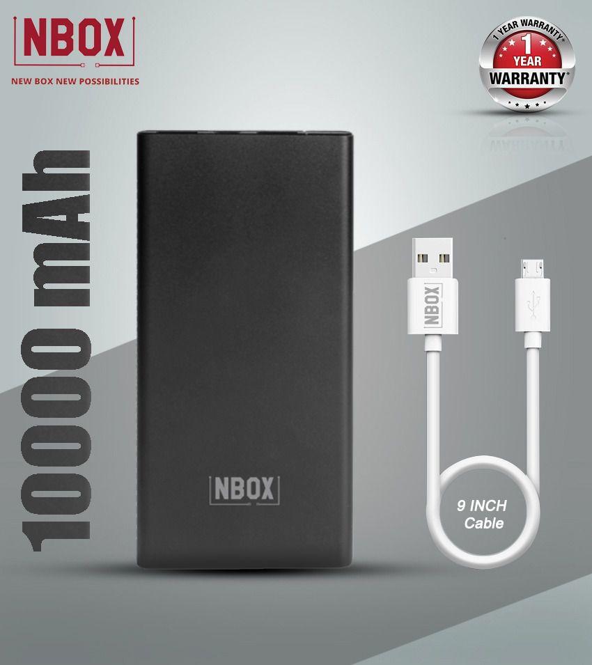 NBOX K 10000 -mAh Li-Polymer Power Bank Black