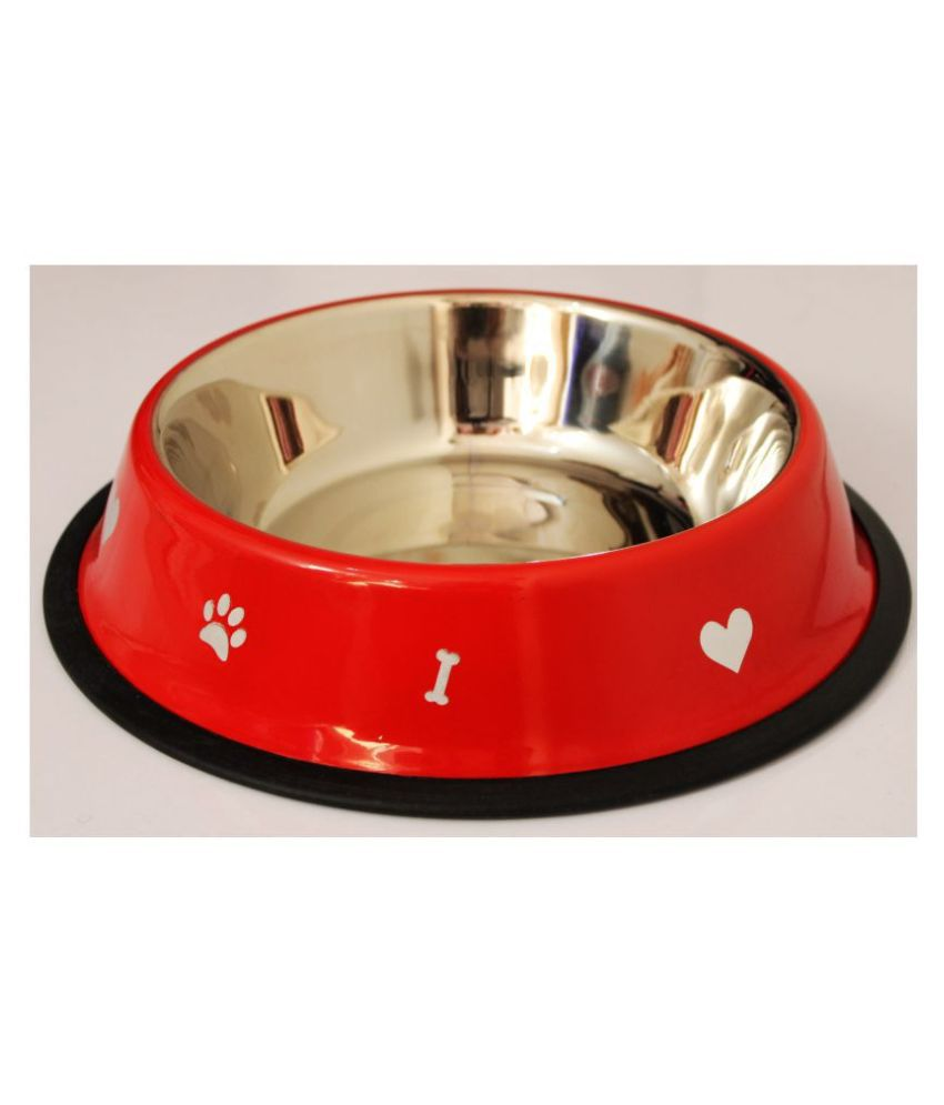 Petshop7 Premium Quality Stainless Steel Dog Bow Red 1800ML Large