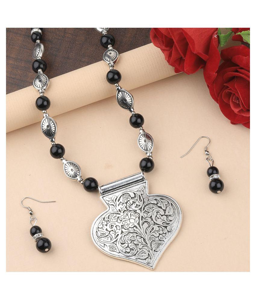 Silver Shine Alloy Silver Contemporary Contemporary/Fashion Antique Necklaces Set