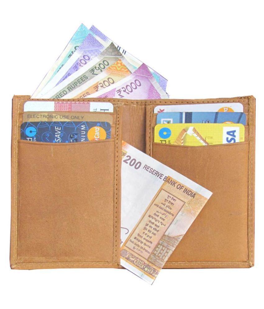 ABYS Leather Tan Formal Traveller Wallet