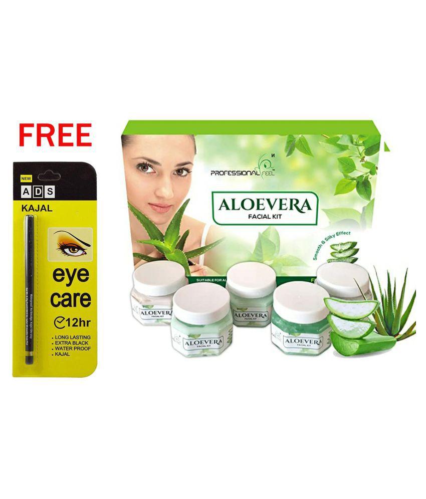 Professional Black Kajal & Aloevera Facial Kit 250 g Pack of 2