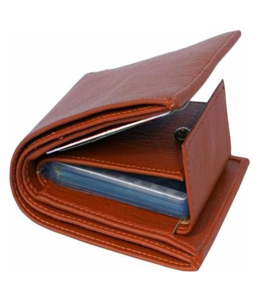 WOO WOO PU Tan Casual Regular Wallet