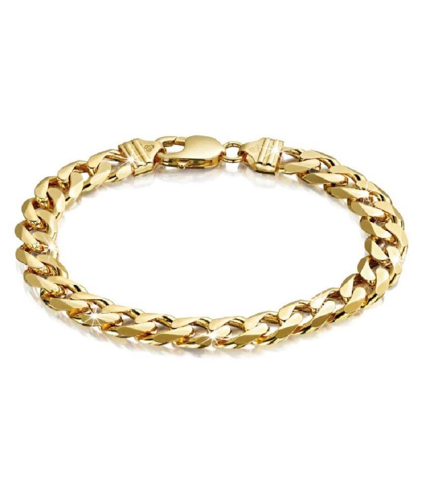 Ratan Bazaar - Gold Plated  Chain Bracelet for Men and Women