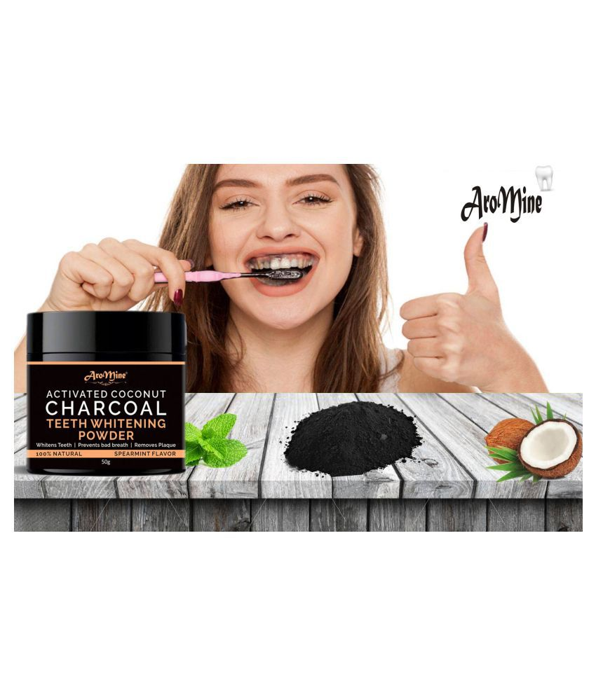 Aromine Activated Charcoal Teeth Whitening Powder 50 gm