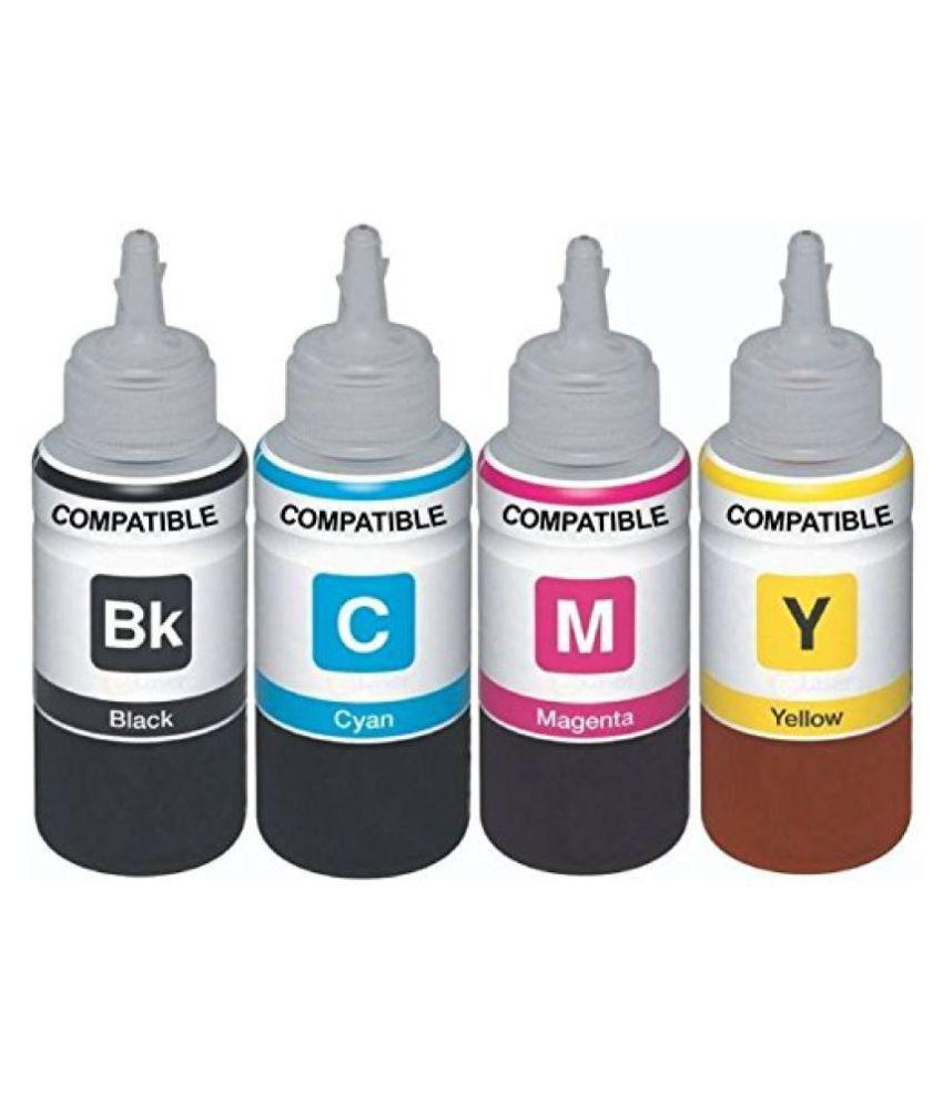 Kataria Refill Ink x 100ml Multicolor Pack of 4 Ink bottle for HP 680 Black  amp; Color Ink Cartridge  amp; HP DeskJet 1115, 1118, 2135, 2138, 3635, 3