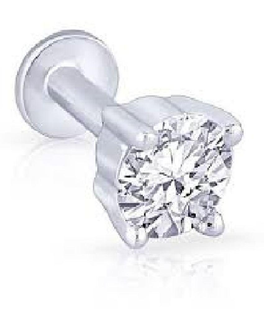 natural diamond nosepin original & certified american diamond Nose pin for women & girls by Kundli Gems
