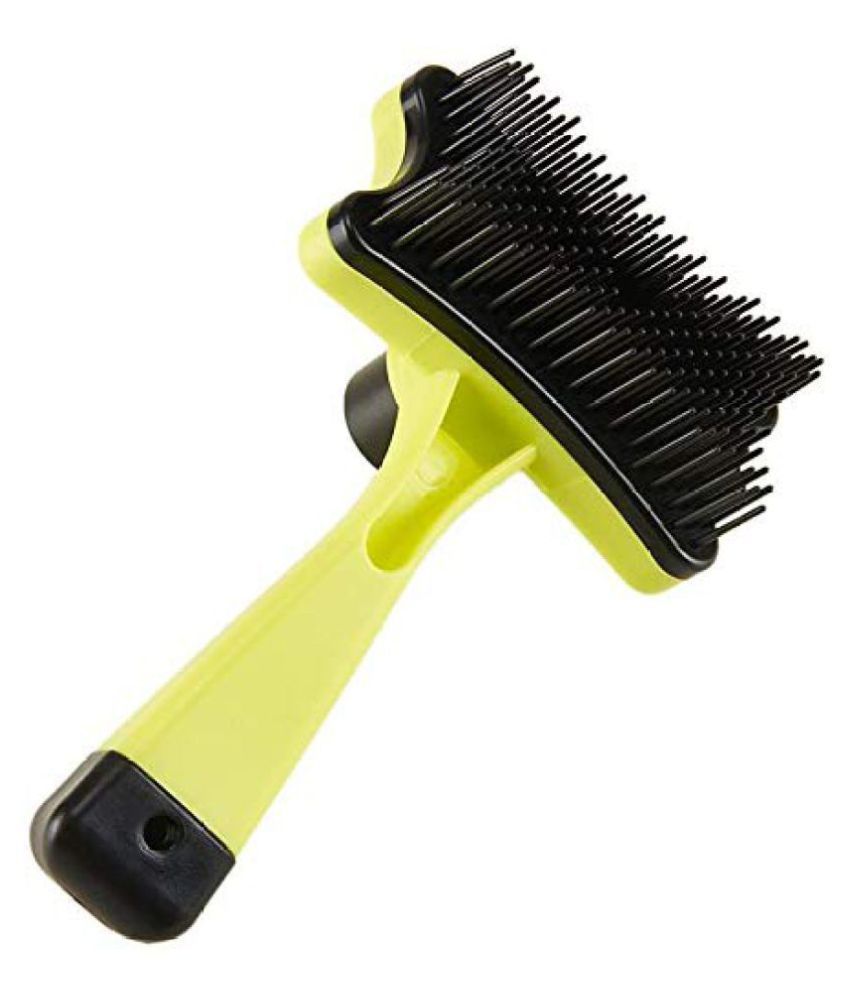 KOKIWOOWOO Slicker Brush for Dogs and Cats Self-Cleaning Grooming Comb for De matting | Dogs & Cats Comb