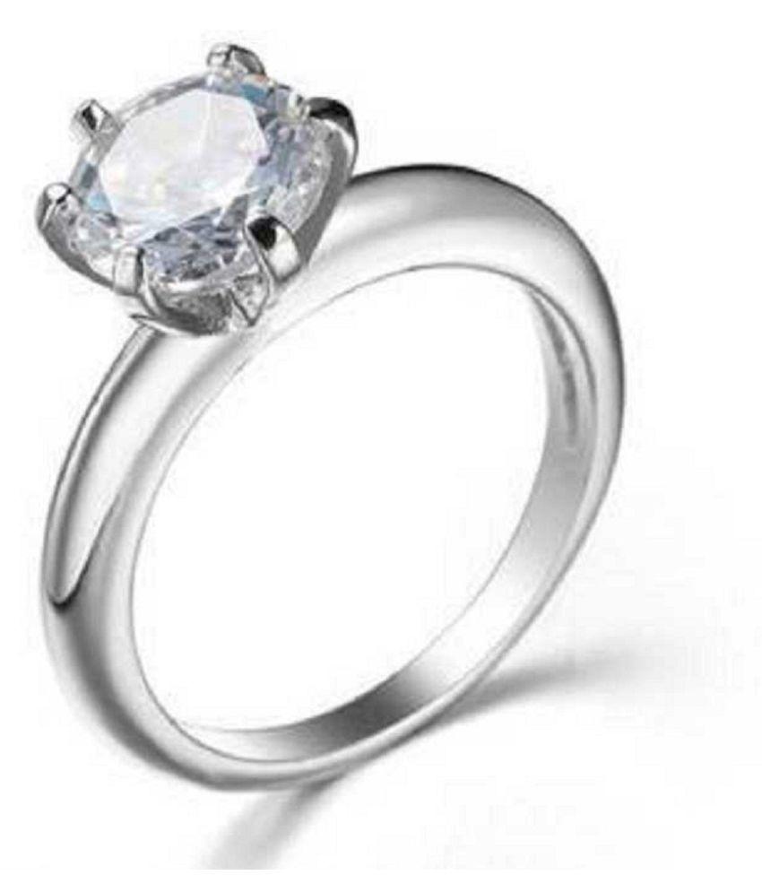 ZIRCON  Ring 6 carat  silver ring  by  RATAN BAZAAR
