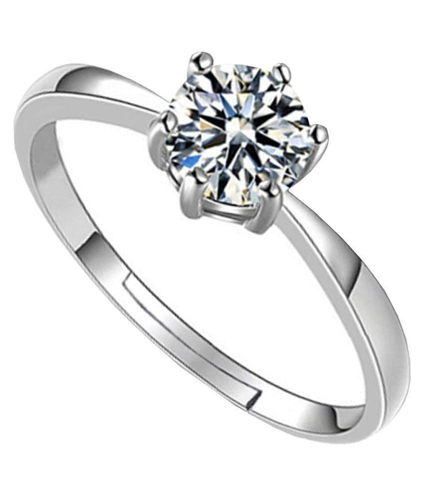 Silver ZIRCON  Stone Ring 7.25 carat by  RATAN BAZAAR