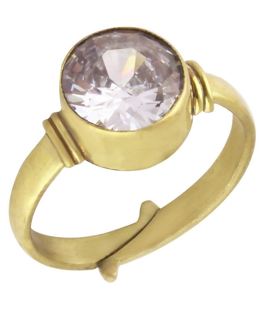 6.25 Carat Original Created Certified ZIRCON gold plated Ring for Men & Women By KUNDLI GEMS