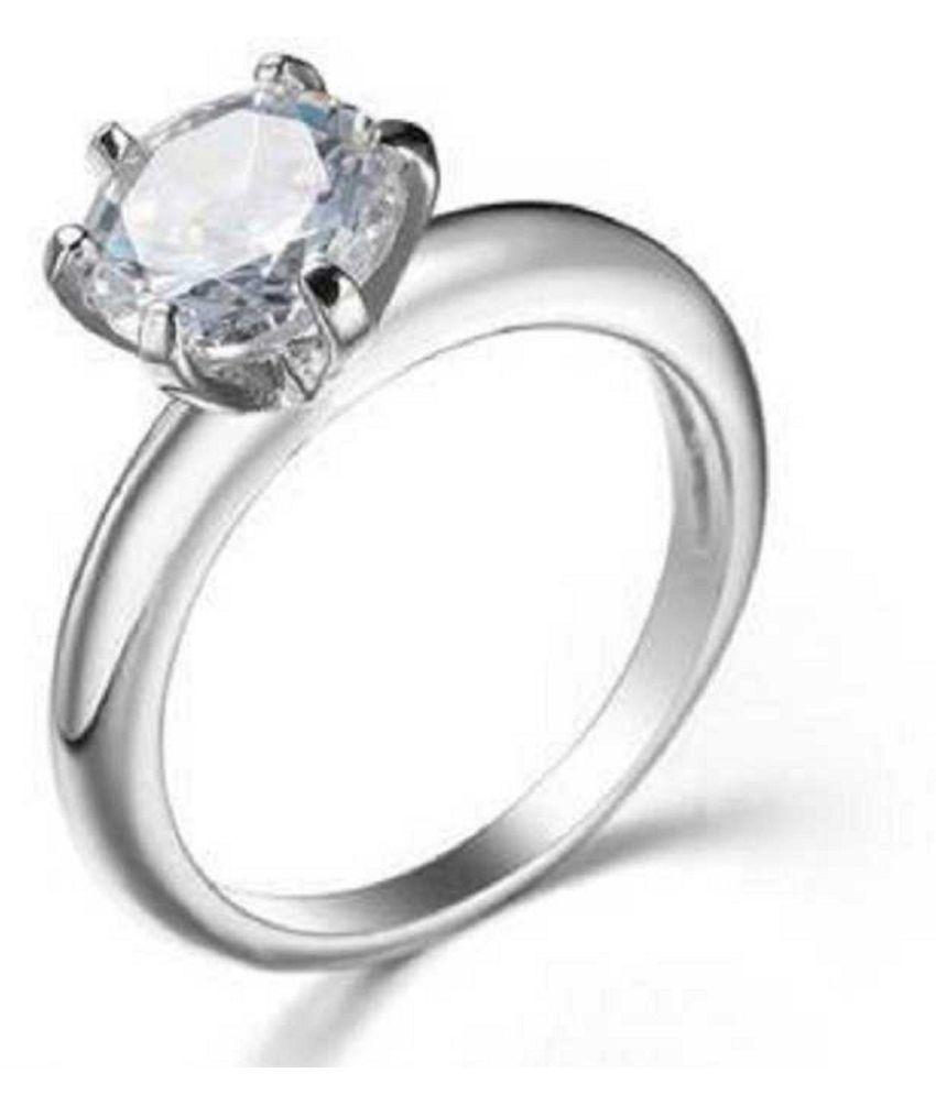 ZIRCON  Ring 7 carat  silver ring  by  KUNDLI GEMS