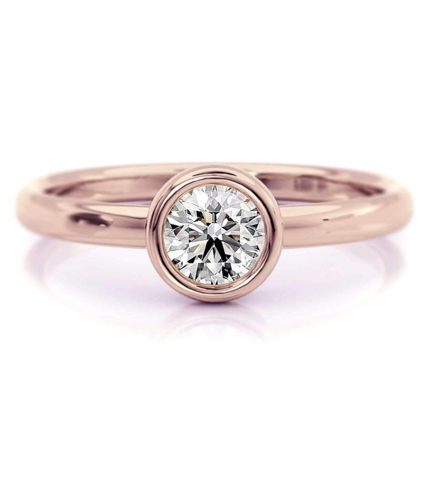 8.5 Carat Stone White Sapphire Gold Plated Ring for unisex by Ratan Bazaar\n