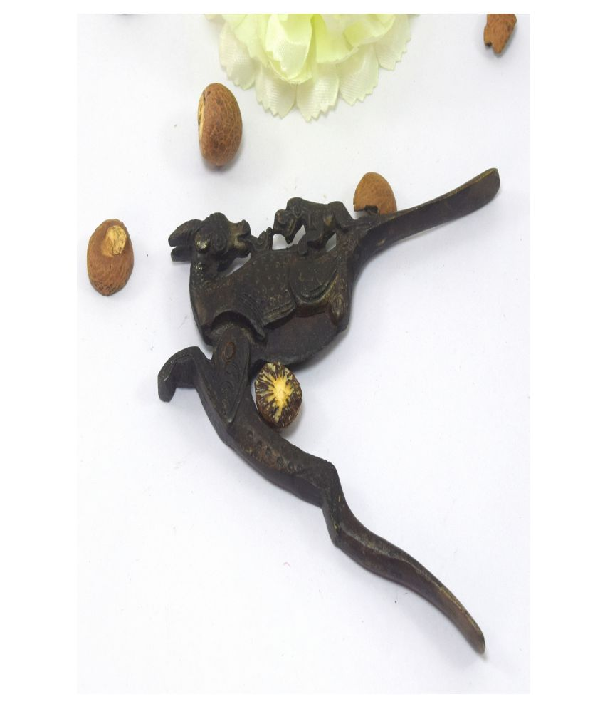 Indian Brass Betel Nut Cutter Collectible Animal Figurative