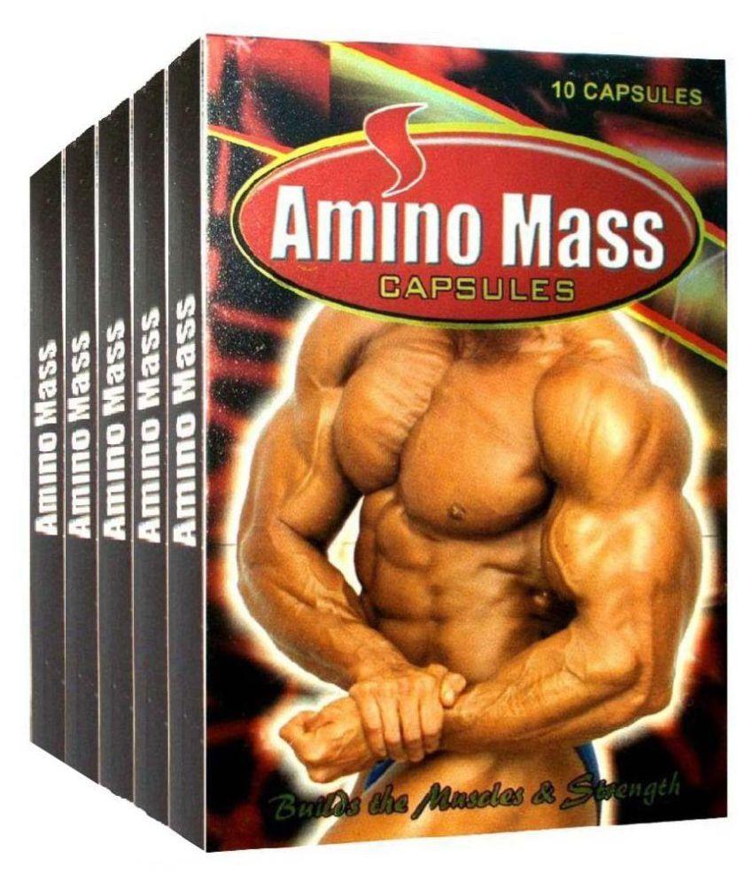 M.D.AYURVEDA Amino Mass (10*5=50) Capsule 50 no.s