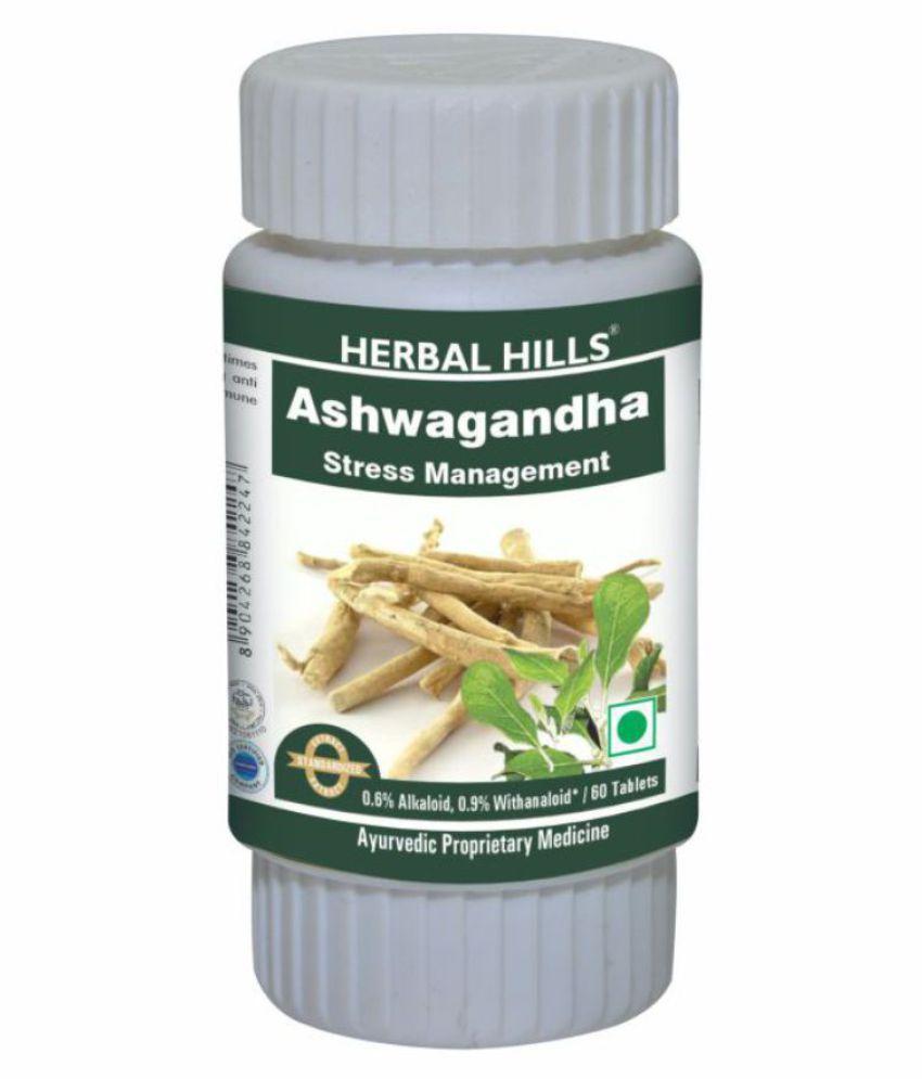 Herbal Hills Ashwagandha Tablet 60 no.s Pack Of 1