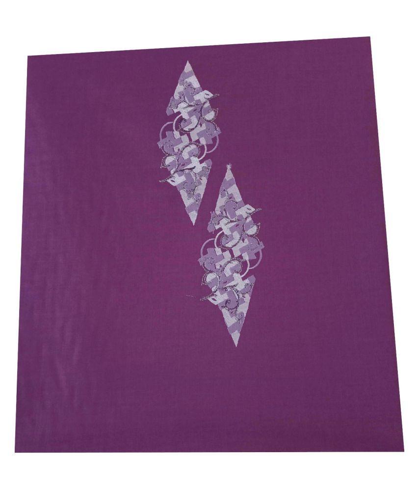 John Phillipe Purple Linen Blended Unstiched Kurta