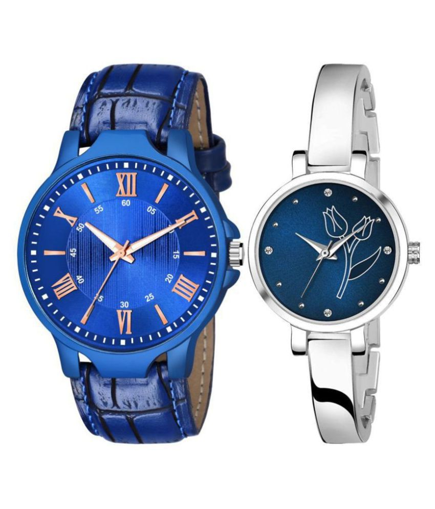 449_741 LEATHER AND METAL WATCH FOR MEN AND WOMEN