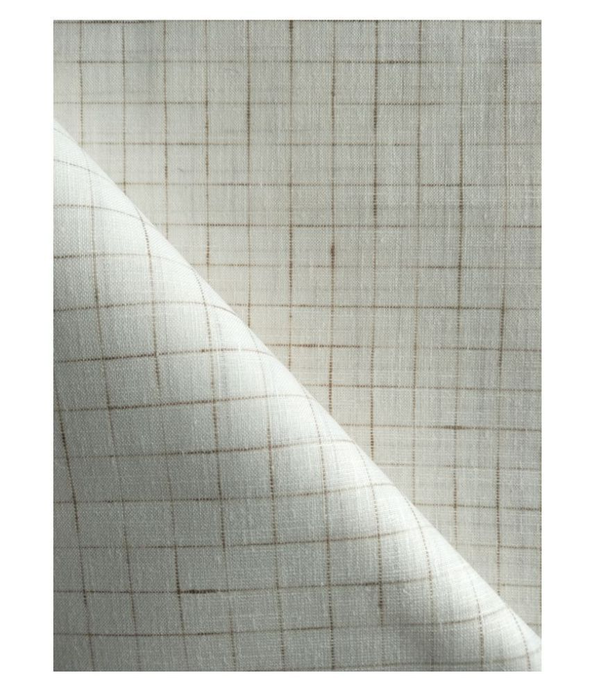Makhanchor Off-White Linen Blended Unstitched Shirt pc Single