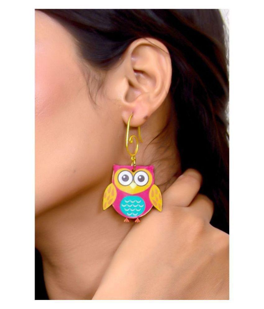 The Owl Dangling Earrings