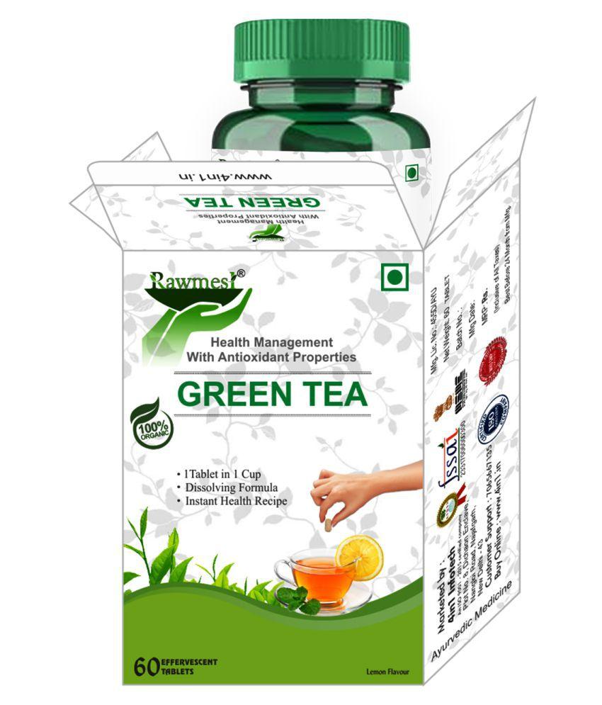 rawmest Green Tea Single Serve Cups 60 no.s
