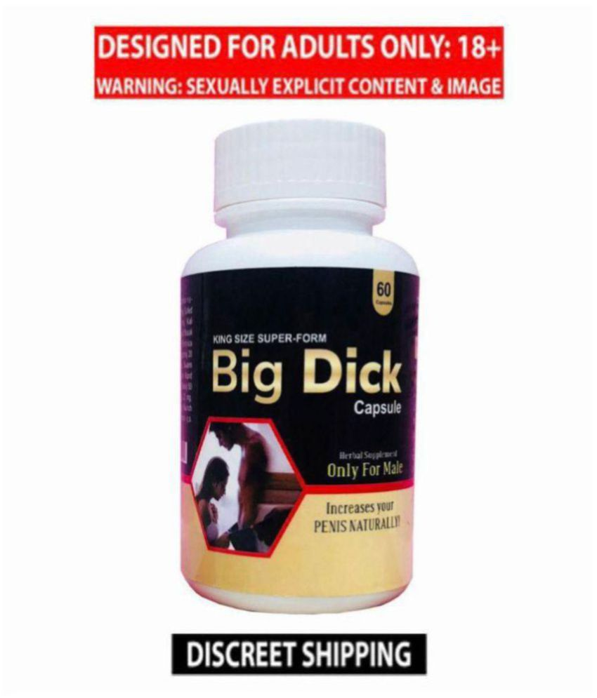 Big Dick COCK size  Enlargement Capsules by Dr. Chopra , pack of 60 no.s, 100% Herbal Capsules,