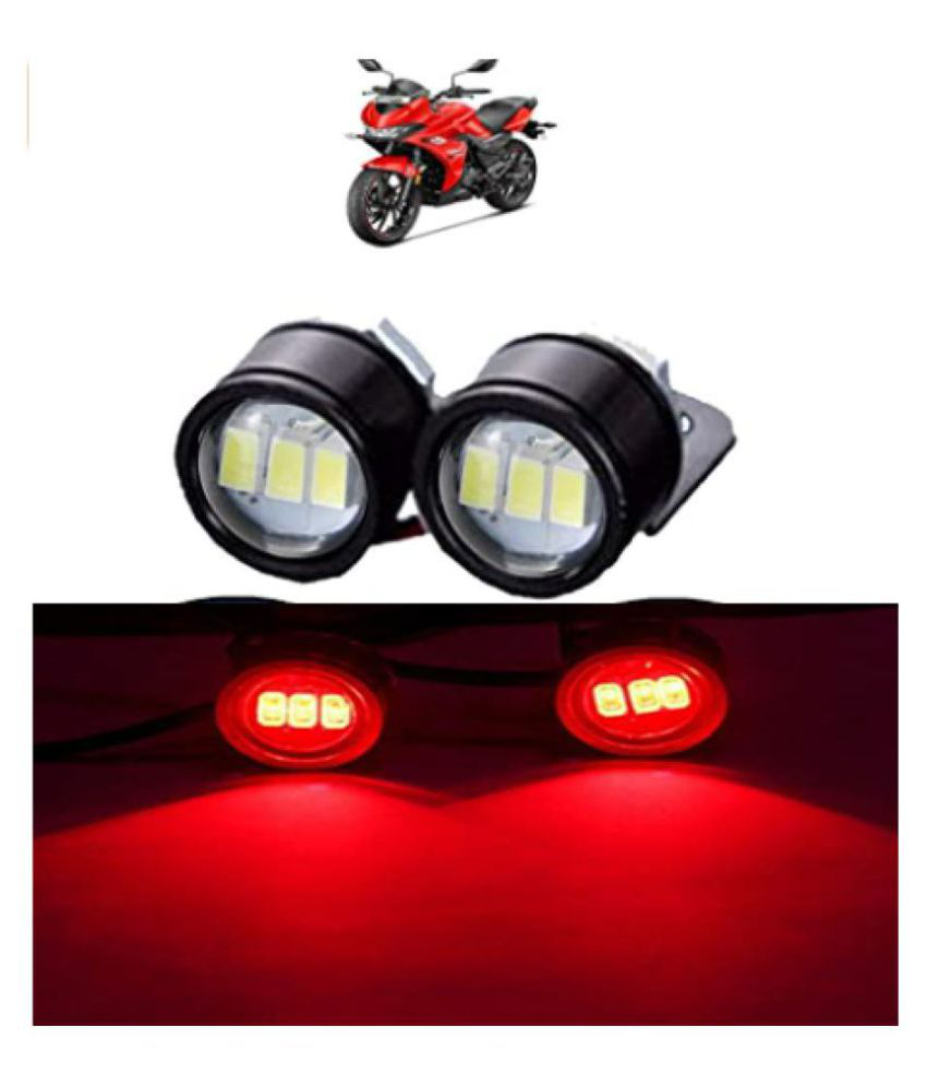 LED Eagle Eye Lamp DRL Strobe Light with Flashing Handle Light Red Universal for Motorcycle (Eagle Eye Lamp)