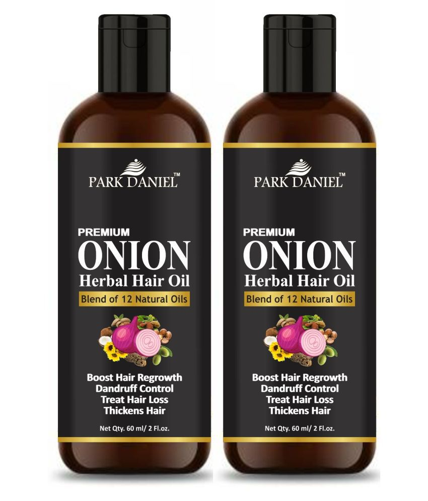 Park Daniel Onion Hair Oil- To Stop Hair Fall 60 ml Each- Pack of 2