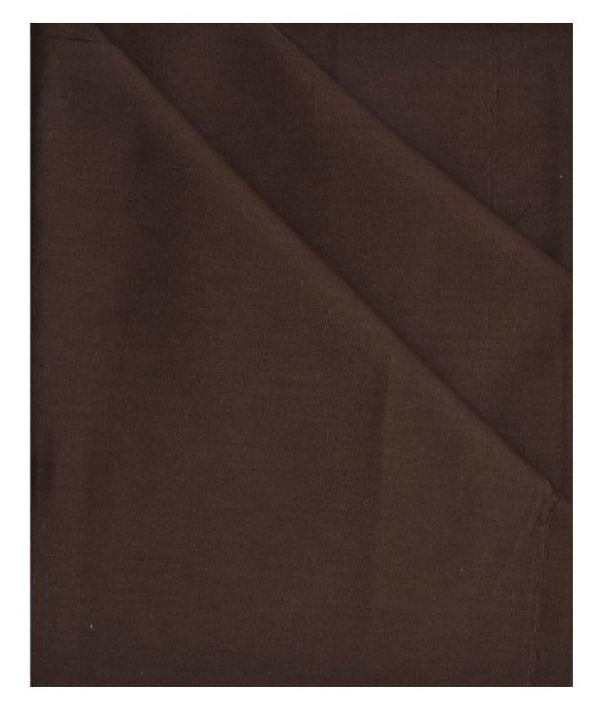 Makhanchor Brown 100 Percent Cotton Unstitched Shirt pc Single