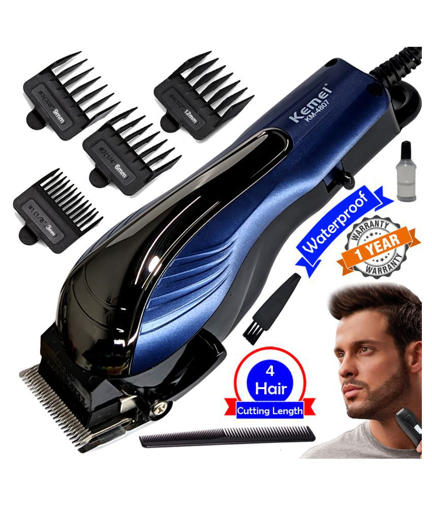 Corded 9W Waterproof Corded Electric Beard Mustache Trimmer Hair Clipper For Men Multi Casual Fashion Comb
