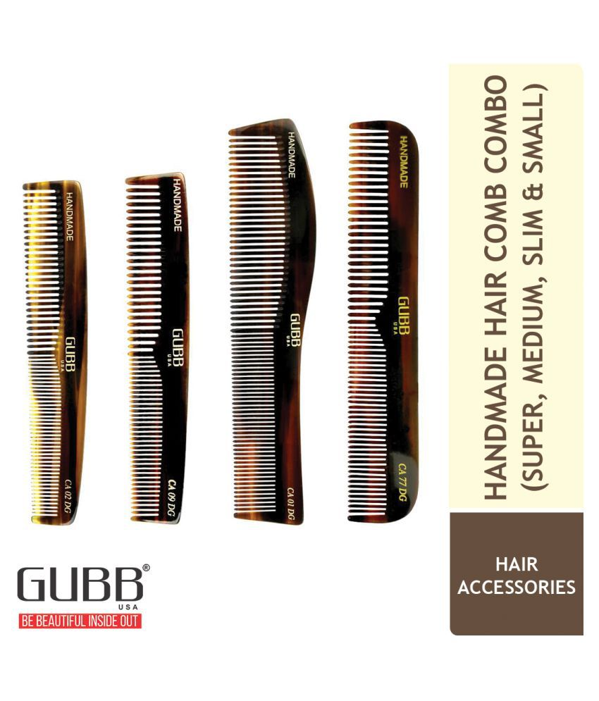 Gubb Handcrafted Hair Comb Combo 5 Styler Pack of 4
