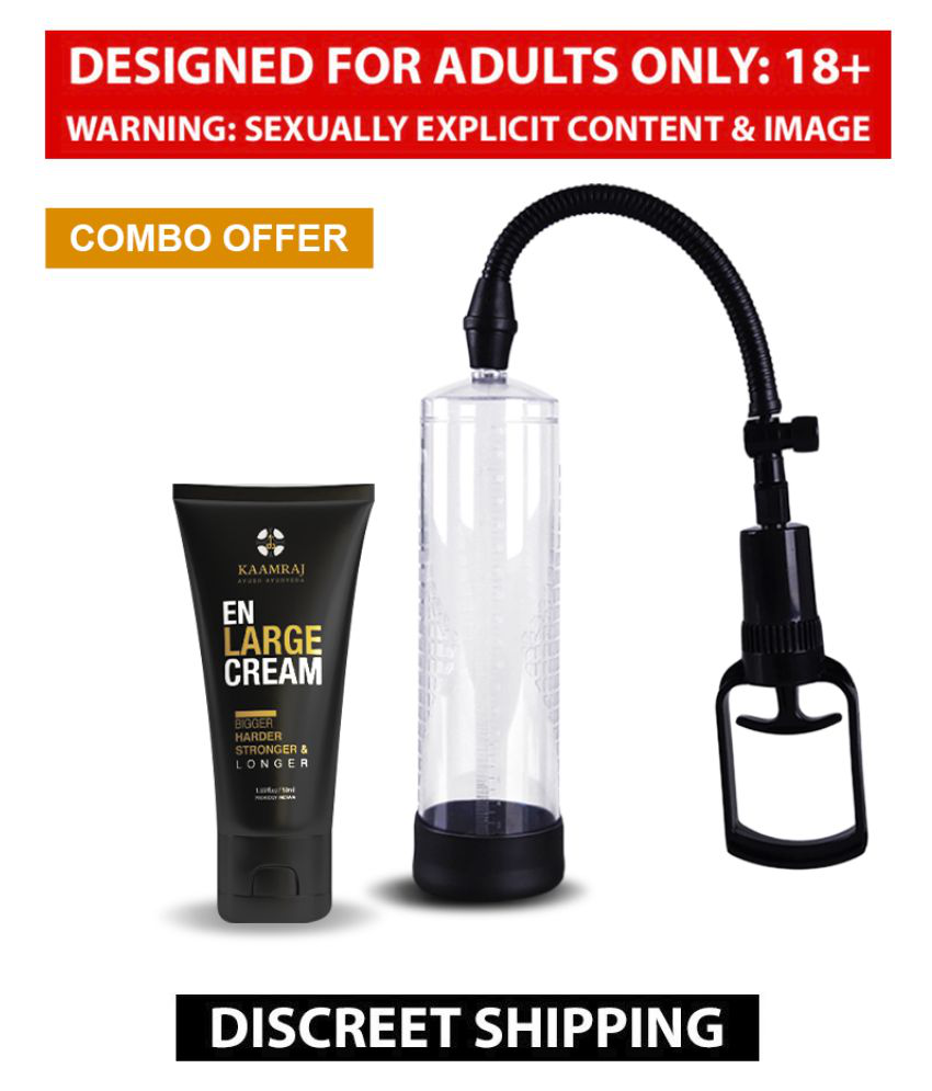 Highly Suggested Kaamraj Enlarge Cream + Pump Combo For Bigger And Stronger Penis - 50 ML