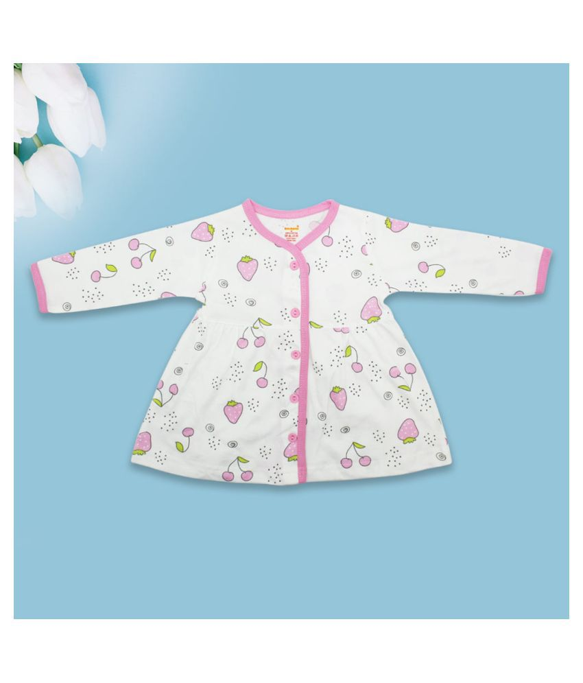 Born Babies® Girls Clothes Outfits Outfits, Cute Baby Girl Dress Full Sleeves Frock for Kids