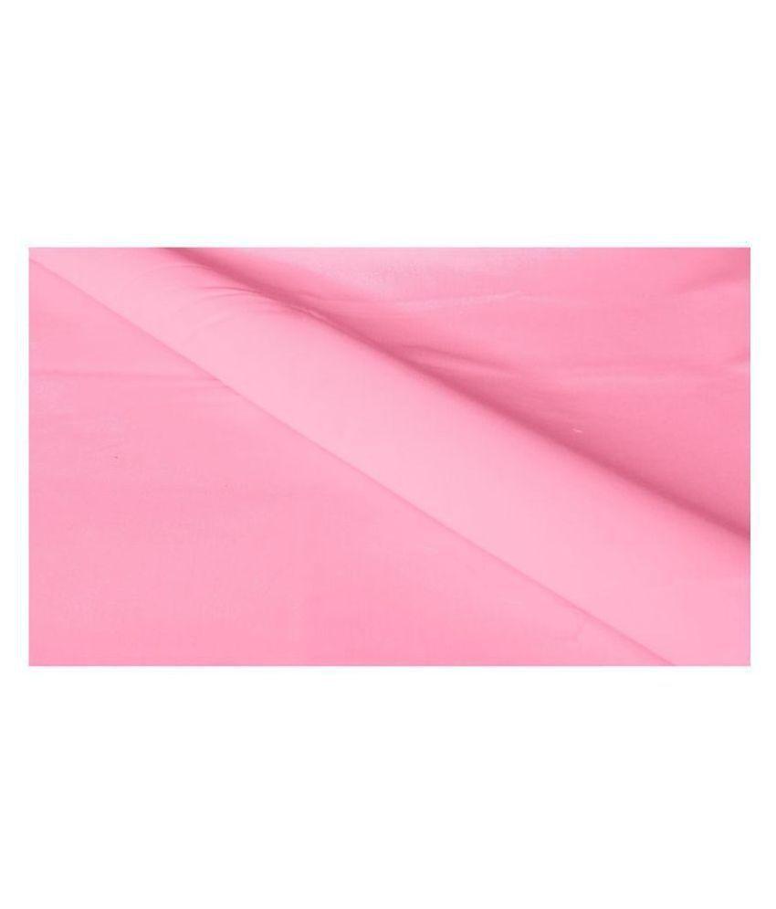 Makhanchor Pink 100 Percent Cotton Unstitched Shirt pc Single