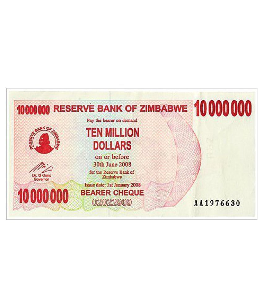 *RARE RARE*Zimbabwe Dollar 10000000 ten million note