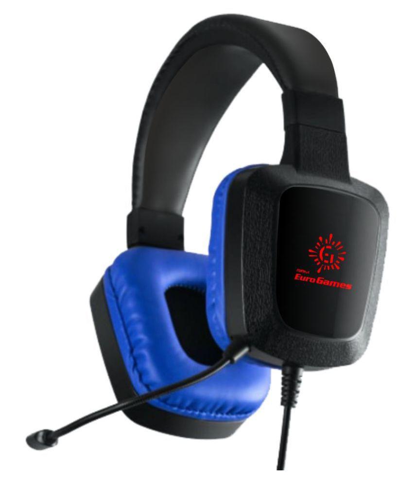 RPM Euro Games Gaming Headphones Earphones Over Ear Wired With Mic Headphones/Earphones